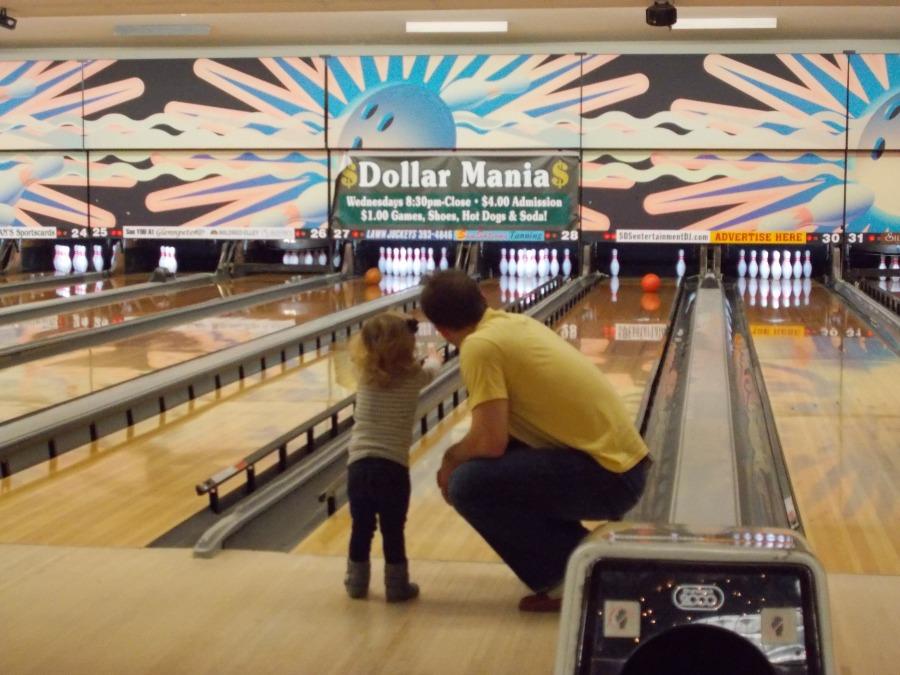 Tim Sestito teaching his daughter some skills...