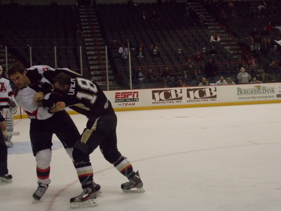 Did manage to get a fight shot in, of Zajac vs. Uher.
