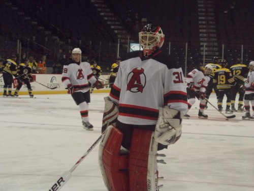 Jeff Frazee (and his new goalie pads)