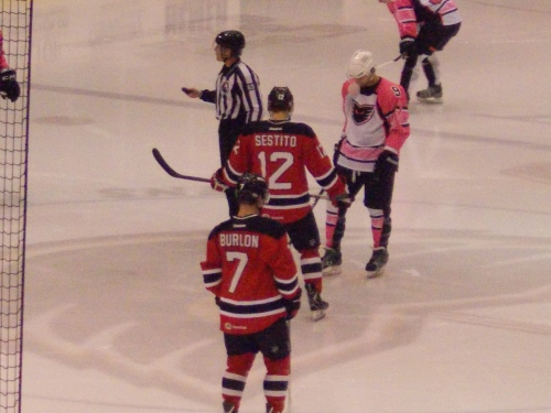 Tim Sestito and Brandon Burlon...and the men in pink