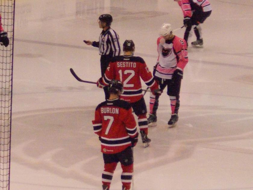 Tim Sestito and Brandon Burlon...and the men in pink