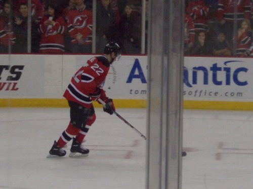 Eric Gelinas...one of the last to leave the ice