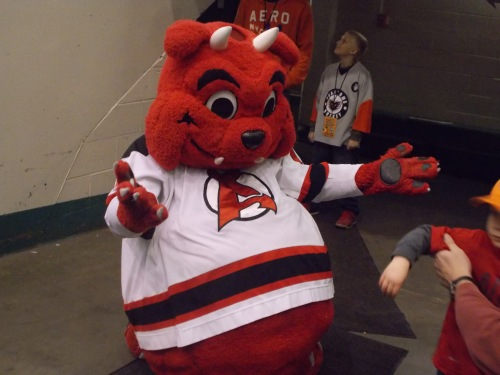 Devil Dawg made a visit for Dax's birthday...