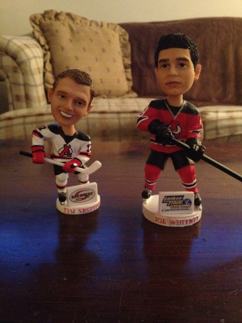 ...when the Joe Whitney bobblehead towers over the Tim Sestito one.