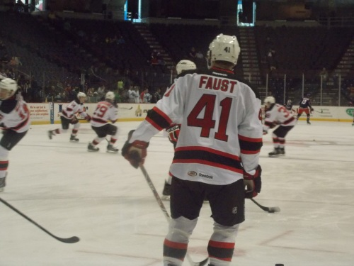 Joe Faust got to warmup...but this was the closest he got to playing.
