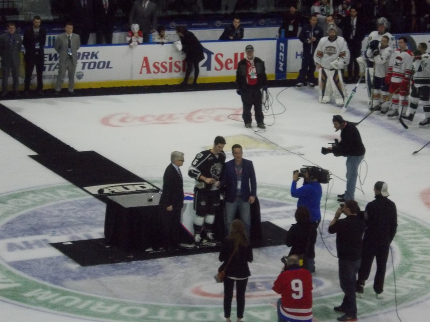 Colin Miller (Manchester) receiving his awards.