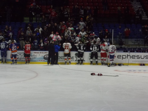Post Skills, everyone was signing by the boards.  Nice touch.