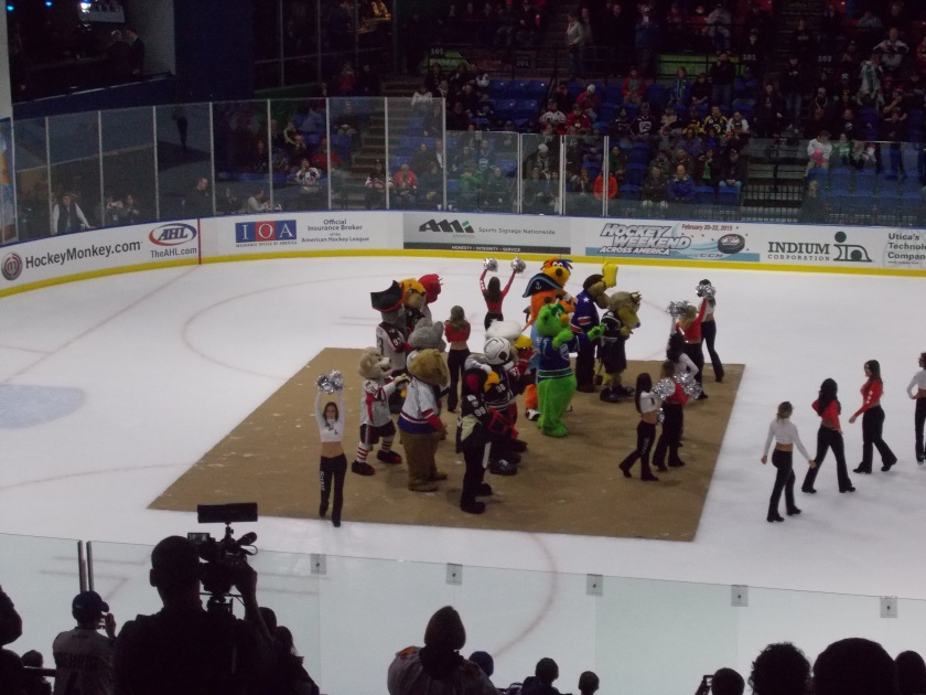 Second intermission: Mascot danceoff, aka the Tux invitational.